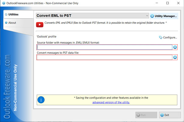 Outlookfreeware eml to pst converter