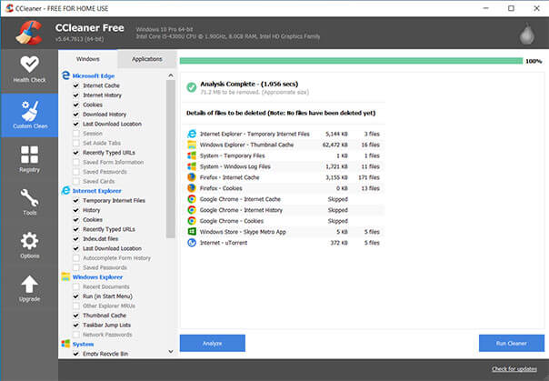 Ccleaner free download for Window 10 full version