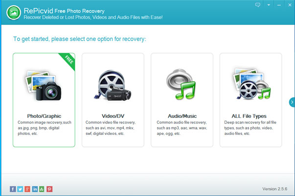 RePicvid Free Photo Recovery For Windows