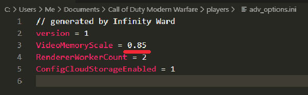 Fix dev error 6068 modern warfare