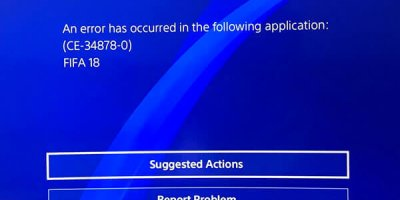 Game crashing ps4. Error Code (CE-34878-0)